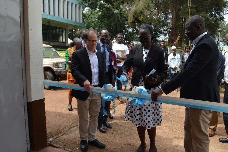 Prof. Rose Nyikal officially opening