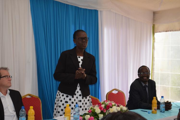 The Principal giving speech