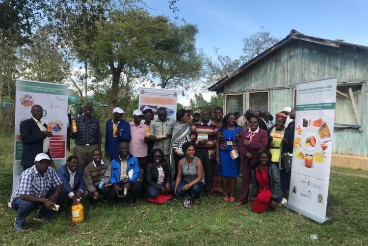 Dr. C.N. Kunyanga Training Farmers