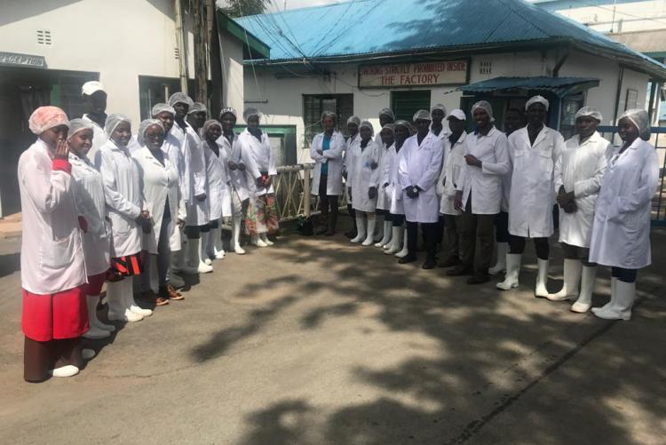 Dr. Kunyanga takes fourth year students for excursion in KMC Athi River