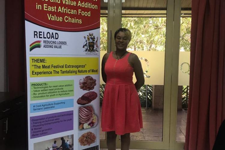 Dr. Kunyanga presenting during the REload dissemination workshop