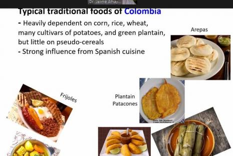 Typical Tradition Food of Colombia